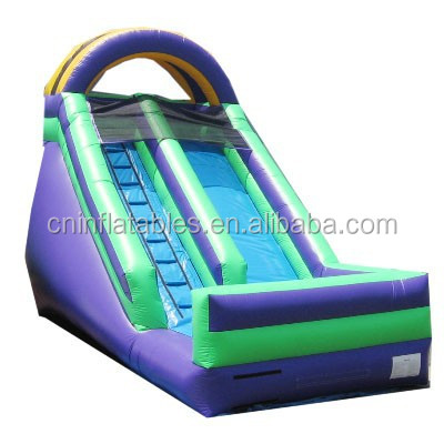 pvc material commercial inflatable slide with pool for adult,inflatable slide for hire,inflatable dry slide