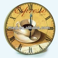 Modern Coffee Art Painting Wall Clock