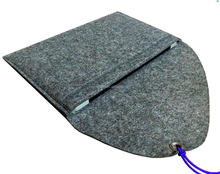 "Grey Wool Felt Case for Mini Pad 11"" Felt Bag for Mini Compter Felt Sleeve for 11"", Pad Protection"