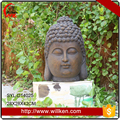 Fiberglass bronze buddha head statue for home garden decor