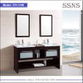 Classic cheap vanity bathroom cabinet with double basins