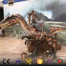 DW-0943 Animatronic walking dinosaur amusement rides for sale