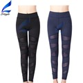 Woman Workout Leggings Yoga Pants Black With Mesh Design