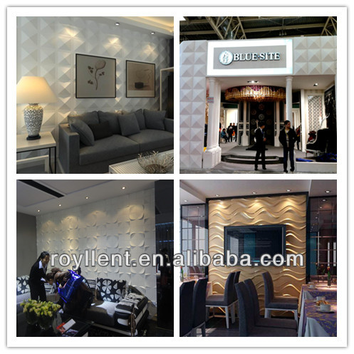 hot sale 3d wall paper 3D PC wall panel in high quality