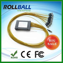 Professional manufacturer of 1X8 1X16 Steel Tube 0.9mm SC PC/APC Mini/blockless Fiber Optic Small size plitter plc
