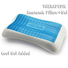 2017 OEM pillow factory Natural latex bread shape cool gel memory foam bed pillow