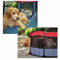 Durable Pet Tent/Playpen/Dog Cage With Strong Steel Frame Lightweight and Portable Pet Kennels