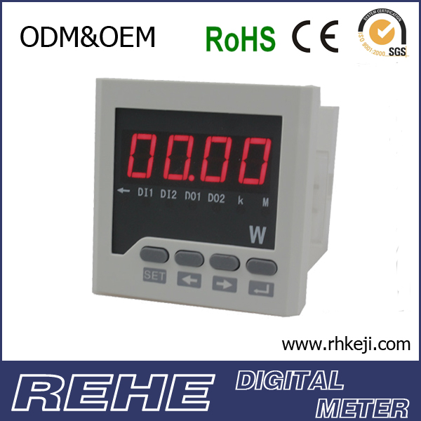 Digital three phase auto power meter for measuring the watt for power distribution cabinet