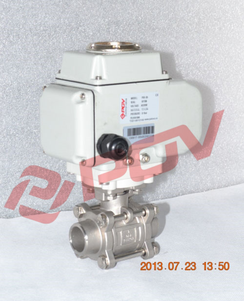 cf8 teflon ball valve dn20 electric valve