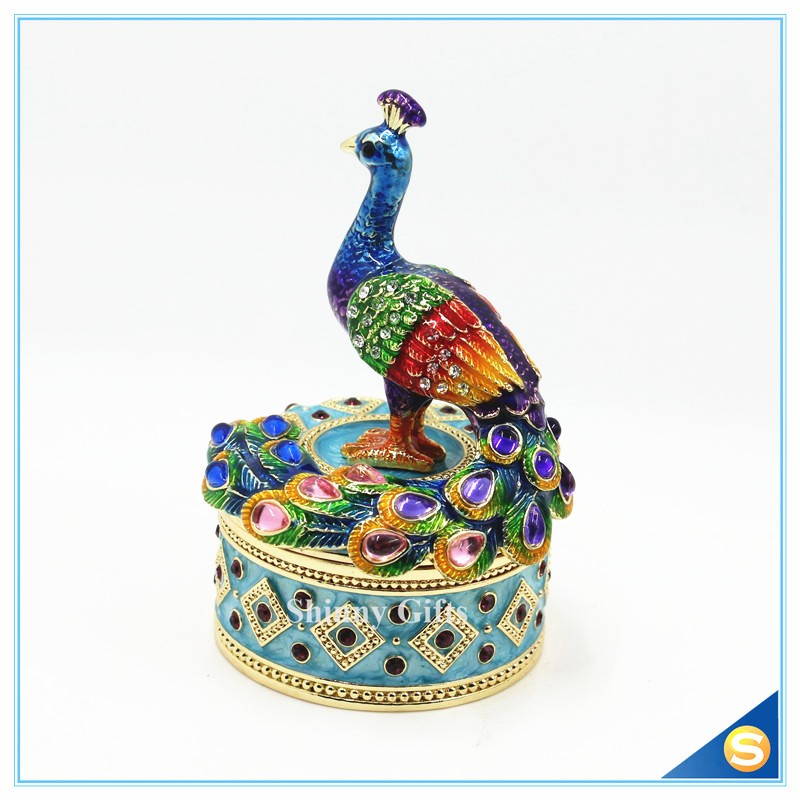 Wedding Gift Decorative Phoenix Jewelry Box Trinket Box Storage Box