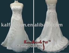 EB8306-1 New design A-line Delicate hand beaded wedding dress FISHTAIL evening dress