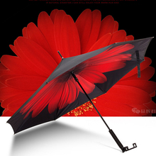 YH1001 led warning light parasol custom outdoor reverse umbrella