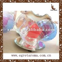 glass incense oil burner with heart shape