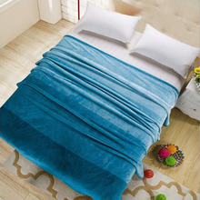 100%polyester cheap wholesale pure color flannel fleece blanket queen size