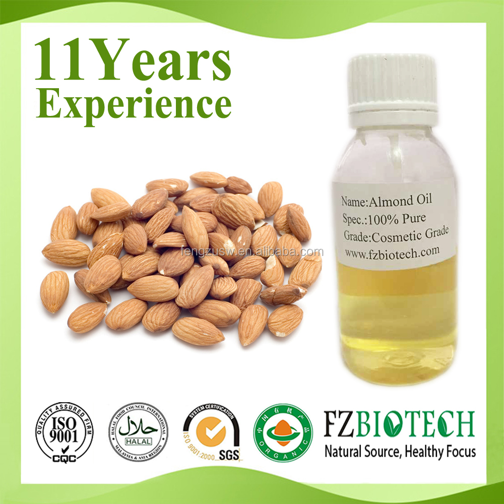 100% natural pure almond oil bulk Price, Free sample sweet almond Oil