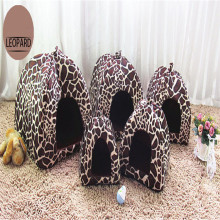 Plush White Dots Print Washable Warm Portable Dog House Cat House Best Pet Supplies Soft Dog House