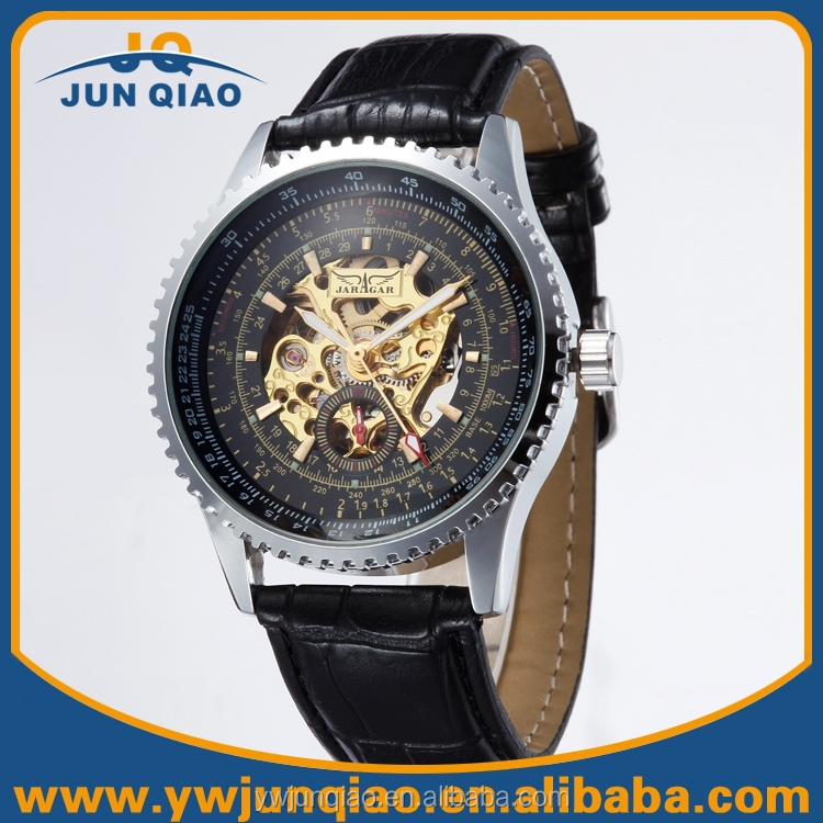 Good Quality Men Sports Leather Mechanical Watches Automatic Jaragar Watches Tourbillon