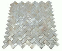 Mother of Pearl Oyster Herringbone Shell Mosaic Tile for Kitchen Backsplashes, Bathroom Walls, Spas, Pools