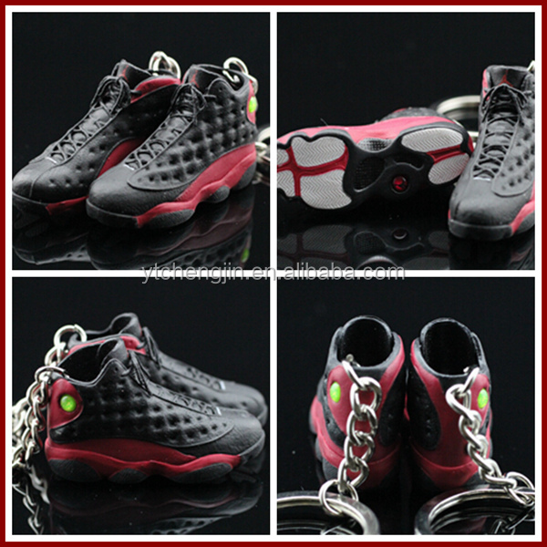 Assorted 3d jordan keychain 3d keychain different styles