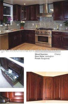Burgundy cherry kitchen cabinet buy cherry kitchen for Burgundy kitchen cabinets