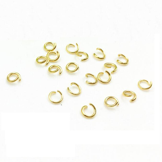 Custom Made Gold Plated Stainless Steel Open Jump Rings Jewelry Finding