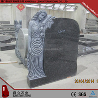 New arrival granite vivid granite angel monument