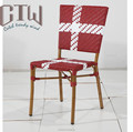 CTW Garden Furniture Aluminum Bamboo Rattan Outdoor Cafe Chair