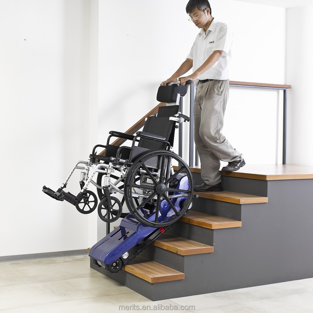 E801 taiwan rubber track indoor outdoor school electric for Motorized wheelchair stair climber