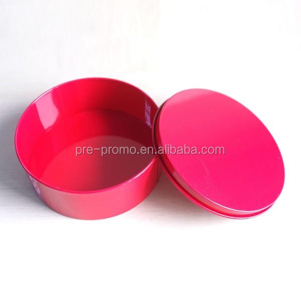 De Metal pequena caixa de lata redonda para o casamento