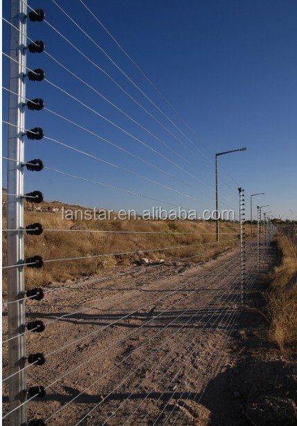 Self-insulated round fiberglass/aluminum-alloy posts/stakes/rods for electric fencing