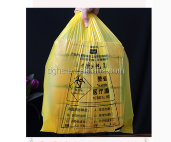 plastic bags for medical waste disposal/biomedical waste bag/ medical sterile bags /medical garbage bag