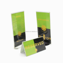 Price list holder acrylic menu rack