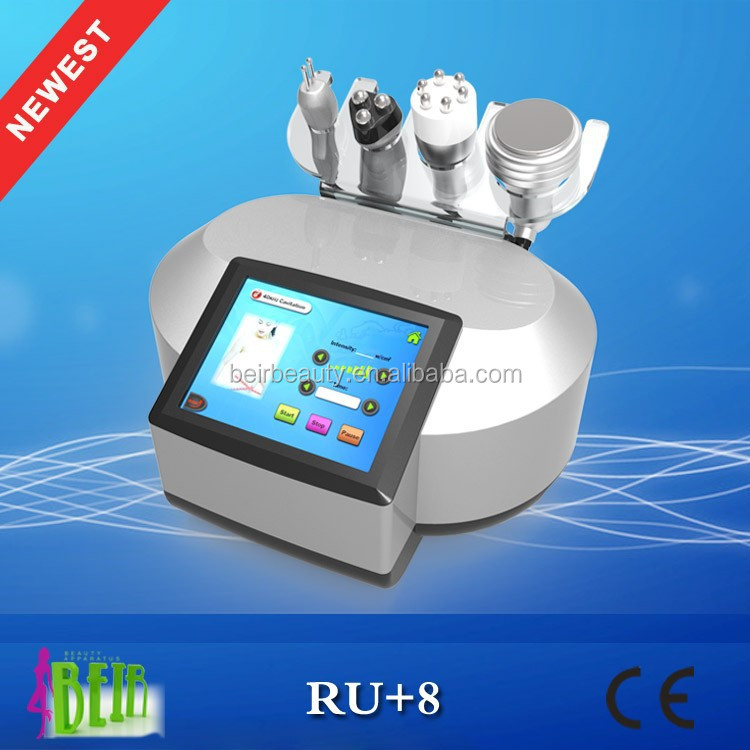 RU+8 ultra cavitation machine radio frequency facial lift with bipolar tripolar rf six polar rf
