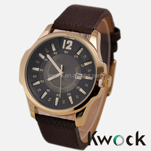 Fashion Curren Men Sport Military Water Quartz Watch with Leather Strap