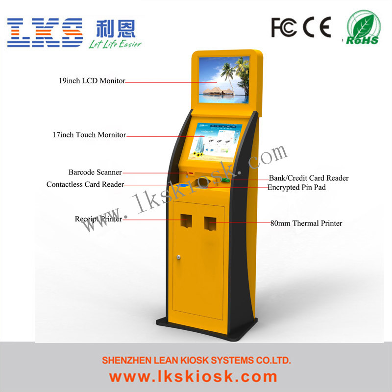 Airport Touch Screen Information Kiosk Terminal Dual Touch Screen Self-Service Kiosk