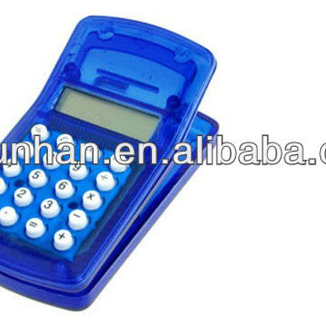 gifts clip solar mini calculator with magnet