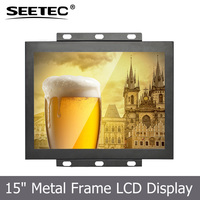 15 inch lcd monitor with TFT LCD open frame display resistive touch backlight led VGA S-video in