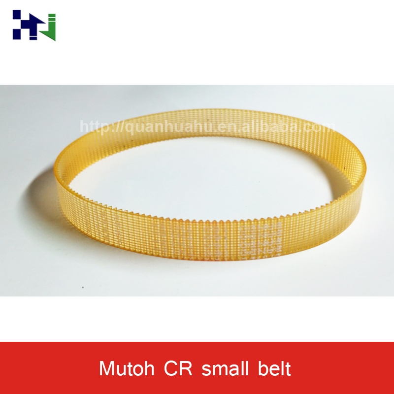 Original yellow color CR belt for Mutoh VJ 1604,BANDO 160 model small rubber drive belt