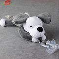 Cartoon Cute Infant Baby Silicone Pacifiers with Plush Animal Baby Nipples