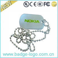 promotional stainless steel print dog tag for company