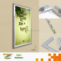 Aluminium fashion snap light box for promotion