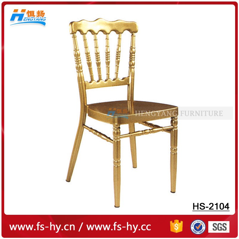 HC-2014 wholesale wedding chiavari chair gold napoleon chair