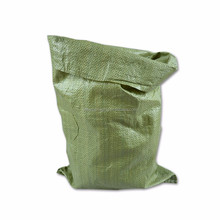 Green color packing and shipping, construction waste, express packaging pp woven bag