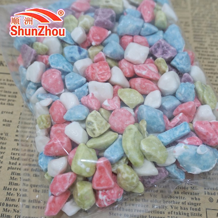 250g bag package chewy colorful milky stone candy