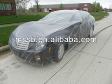 2015 clear disposable plastic car cover