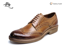 Brogue design British alibaba men leather shoes factory price