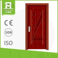Best selling good quality decorative wood door with house gate design made in china