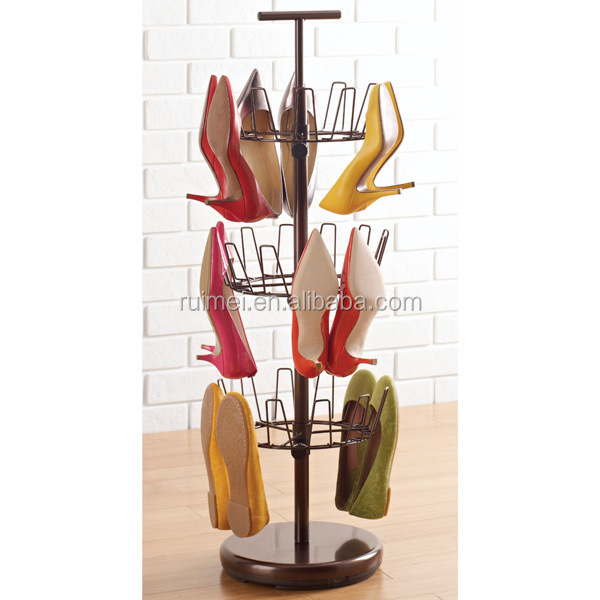 Attractive 3 Tiers Revolving Shoe Rack