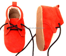 wholesale cheap hard sole handmade red bottom baby leather shoes soft