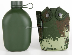 factory audited, free sample Factory direct price military drinking bottle bpa free canteen aluminium sport bottle